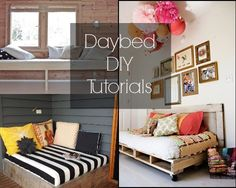 Daybed DIY Tutorials {Curl up with a good book!}