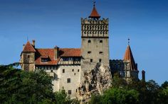 Bran Castle - home of Vlad Tepes aka Vlad the Impaler or aka Dracula if you want Spooky World, Dracula Castle, Vlad The Impaler, Highgate Cemetery, The Catacombs, Spooky Places, Dollar, Peles Castle, Bucharest