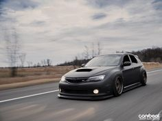 Flat Black and Bagged Subaru STi