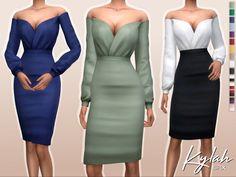 Sifix's Kylah Dress Sims 4 Mods Clothes, Sims 4 Clothing, Sims Mods, Female Clothing, Sims 4 Teen, Sims 4 Toddler, Sims 4 Cc Packs, Sims 4 Mm Cc, The Sims 4 Cabelos