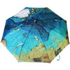 kilofly World Map Automatic Folding Umbrella, with Carry Sleeve http://travelfashiongirl.com/shop #travel #fashion