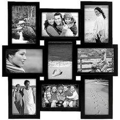 Black PUZZLE collage displays 9 4x6 photos