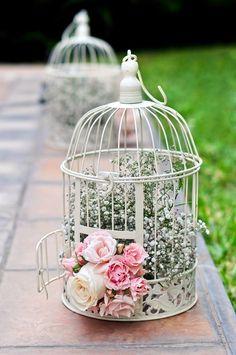 Bohemian Wedding Decorations, Bridal Shower Decorations, Flower Decorations, Wedding Centerpieces, Beautiful Flower Arrangements, Floral Arrangements, Bird Cage Centerpiece, Garden Birthday, Floral Hoops