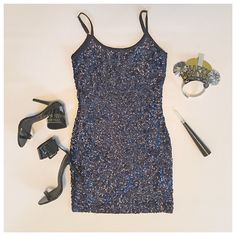 Navy Sequin Cocktail Slip Dress...did someone say new year's eve? #nye