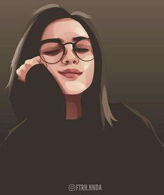 Admire things which ur things Portrait Vector, Digital Portrait, Portrait Art, Cute Girl Drawing, Cartoon Girl Drawing, Beautiful Girl Drawing, Cute Cartoon Girl, Photo To Cartoon, Girly Drawings