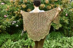 Ravelry: Blooming Brioche KAL pattern by Xandy Peters Stitch Patterns, Knitting Patterns, Fair Isle Knitting, Knitted Poncho, Knitting Projects, Hair Bows, Ravelry, Headbands, Knit Crochet