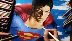 Speed Drawing: Superman - Christopher Reeve | Jasmina Susak