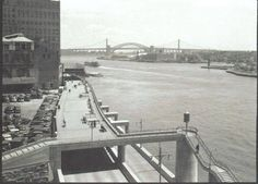 Start of the Promenade at 81st Street Tower by the East River and the FDR Drive.