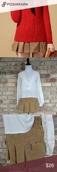 Juicy Couture Khaki Skirt Adorable pleated skirt by Juicy Couture. Excellent worn condition! Juicy Couture Skirts