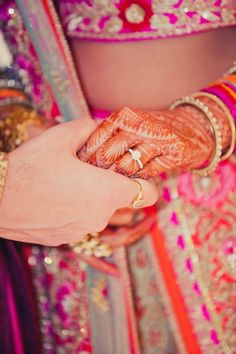 Photographer - The Wedding Bands! Photos, Hindu Culture, Beige Color, Rings, Bridal Mehandi, Couple Photographs pictures, images, vendor credits - Kundan Mehandi Art, Dipak Colour Lab Pvt Ltd, Mahima Bhatia Photography, Asiana Couture, Jasmeet Kapany Hair and Makeup, WeddingPlz