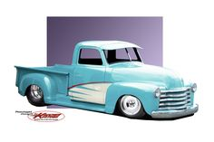 1953 Chevy Truck Renderings. Next truck to finish.