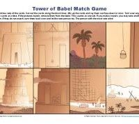 Children's Bible Matching Game Activity - Tower of Babel