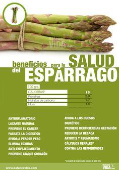 Beneficios de los espárragos #salud #adelgazar #alimentos #comerbien #vidasana