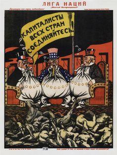 Propaganda Soviet Union Anti Capitalist Capitalism Communismad Poster Art 1957PY | eBay