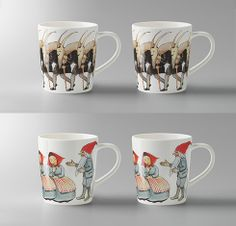 Elsa Beskow mulled wine mugs designed by Catharina Kippel