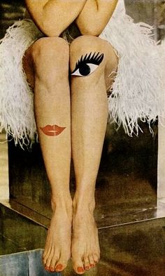 "milton h greene Photo shoot for Life magazine May 1966 for leg make up entitled ""Beauty goes out on a decorative limb"""