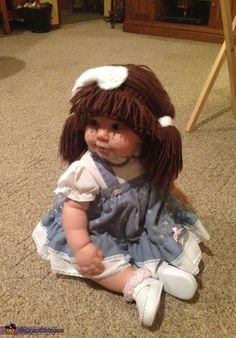 My baby girl as a Cabbage Patch Doll - 2013 Halloween Costume Contest