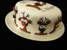 Reindeer xmas cake