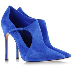 Casadei Ankle Boots (15.945 RUB) ❤ liked on Polyvore featuring shoes, boots, ankle booties, heels, blue, blue shoes, blue ankle boots, leather bootie, short leather boots and leather heel booties