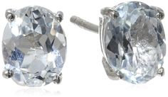 Sterling Silver Oval Gemstone Earrings >>> Want to know more, click on the image. (This is an Amazon Affiliate link and I receive a commission for the sales)
