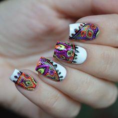 Картинки по запросу дизайн ногтей цветная геометрия