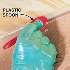 Use a plastic spoon to smooth caulking. This site tells you how to fix anything in your house.