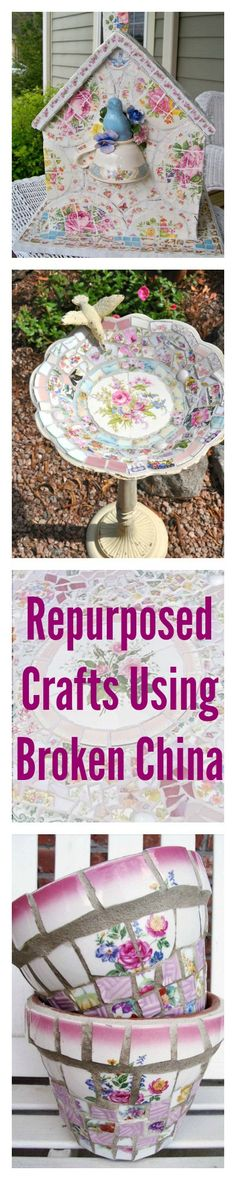 12 Creative Crafts that Take Broken China From Trash to Treasure
