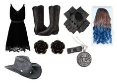 """""""Untitled #40"""" by miahorse on Polyvore featuring Miss Selfridge, Ariat, Black, Erica Lyons and Overland Sheepskin Co."""