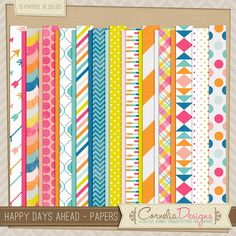 Happy Days Ahead - Papers by Cornelia Designs