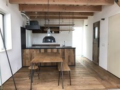 Brooklyn house × Design Source   株式会社スクエア Brooklyn House, Yoyogi Park, House Design, Kitchen, Table, Furniture, Home Decor, Cooking, Decoration Home