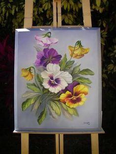 Resultado de imagen para pintura em tela flores