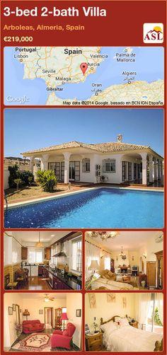 3-bed 2-bath Villa in Arboleas, Almeria, Spain ►€219,000 #PropertyForSaleInSpain