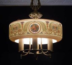 High Quality 30's Art Nouveau Vintage Ceiling Lamp Light Chandelier | eBay