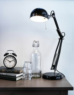 Bedroom lighting - A desk lamp, like FORSÅ, makes a great bedside option for late night readers and web surfers. | IKEA