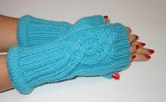 A personal favorite from my Etsy shop https://www.etsy.com/listing/90813826/hand-knit-wrist-warmers-fingerless