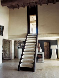 // Photograph: Julien Oppenheim amazing staircase and loft room Interior Stairs, Interior Architecture, Interior And Exterior, Interior Design Photography, Photography Tips, Alvar Aalto, Staircase Design, Modern Staircase, Concrete Staircase