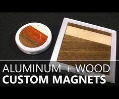 As a hobbyist woodworker, I thought it would be fun to experiment with some of the higher-end hardwoods. Watch the video (and read this Instructable) to see how I made some fancy hardwood & aluminum magnets, using scrap hardwood, and magnets salvaged from a computer hard drive.