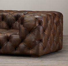 Soho Tufted Leather Sofas FAVORITE