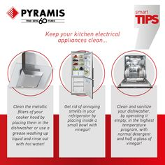 We have the right tips for you! Cleaning Appliances, Electrical Appliances, Oven And Hob, Cooker Hoods, Quality Kitchens, Kitchen Sink, Dishwasher, Tips, House Appliances