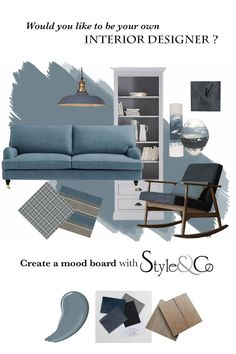 Style your home – Style&Co - - Style your home the Stylist's way - we show you how to design your home and create a moodboard 6 easy steps. Step 1 - Find your inspiration . Interior Design Boards, Interior Design Inspiration, Decor Interior Design, Interior Design Living Room, Moodboard Interior Design, Home Interior Colors, Moodboard Inspiration, Interior Decorating Styles, Interior Sketch