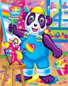 Art Print: Painter and Doodles by Lisa Frank : Lisa Frank Unicorn, Disney Precious Moments, Lisa Frank Stickers, Morning Cartoon, 90s Nostalgia, Rainbow Art, My Spirit Animal, Framed Art, Original Art