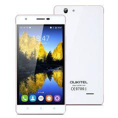 Oukitel C4 5.0 Inch 4G Multi-Touch Screen Android 6.0: Amazon.co.uk: Electronics Cheap Smartphones, Back Camera, Multi Touch, Android Smartphone, Dual Sim, Quad, Wifi, Electronics, Amazon