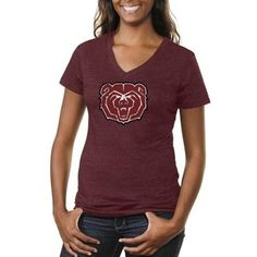 This one is just for you, ladies. Tri-blend V-necks are a fashionable way to represent Missouri State at any athletic event.