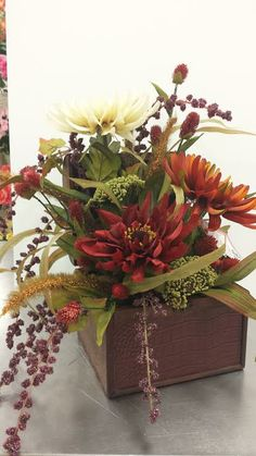 Aster, trunk arrangement, Michaels Plymouth Meeting Plymouth Meeting, Fall Floral Arrangements, Fall Flowers, Plant Decor, Flower Vases, Fall Decor, Gerbera, Floral Designs, Centerpieces