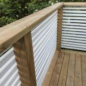 staket Deck Balustrade Ideas, Balcony Railing Design, Balcony Grill Design, Backyard Garden Design, Deck Building Plans, Outdoor Privacy, House With Porch, Outdoor Living, Outdoor Decor