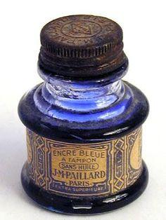 vintage ink bottle labels: