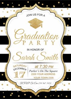 aged to perfection birthday invitation Custom Office Party Invitations Graduation Photos, Graduation Cards, College Graduation, Graduation Announcements, Graduation Decorations, Graduation Party Invitations, Digital Foto, Festa Party, Gold Party