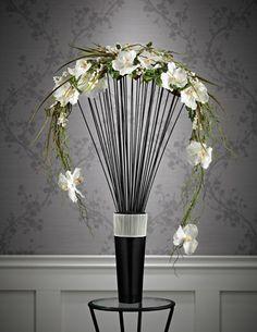 Crescent design. Flower arrangement. Floral design