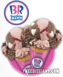 Baskin Robbins Buy One Get One Free Cone-Printable Coupon - http://freebiegiant.com/baskin-robbins-buy-one-get-one-free-cone-printable-coupon/ Right now, you can get a Buy One Get One Free printable coupon, which is good on the purchase of any cone at Baskin Robbins.  If you would like to get your BOGO coupon, you can click here to print your coupon. There is a limit of one coupon per household and you can only use one coupon per...