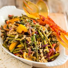 This warm Oven Roasted Asparagus and Bell Pepper Salad is a delicious blend of tasty vegetables that makes for a perfect side dish, or dreamy antipasto.